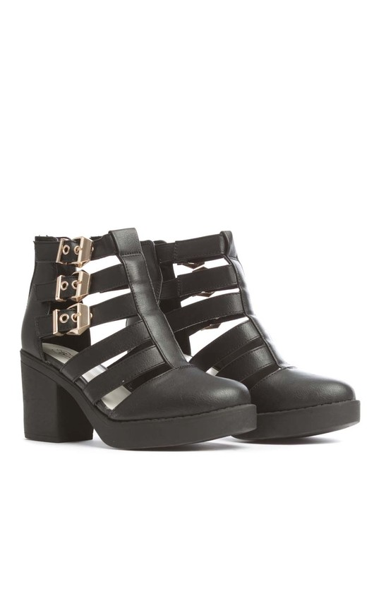 Ciara Black Ankle Boots