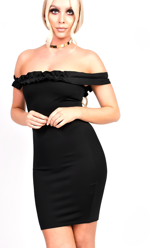 Maria Frill Bardot Bodycon Dress