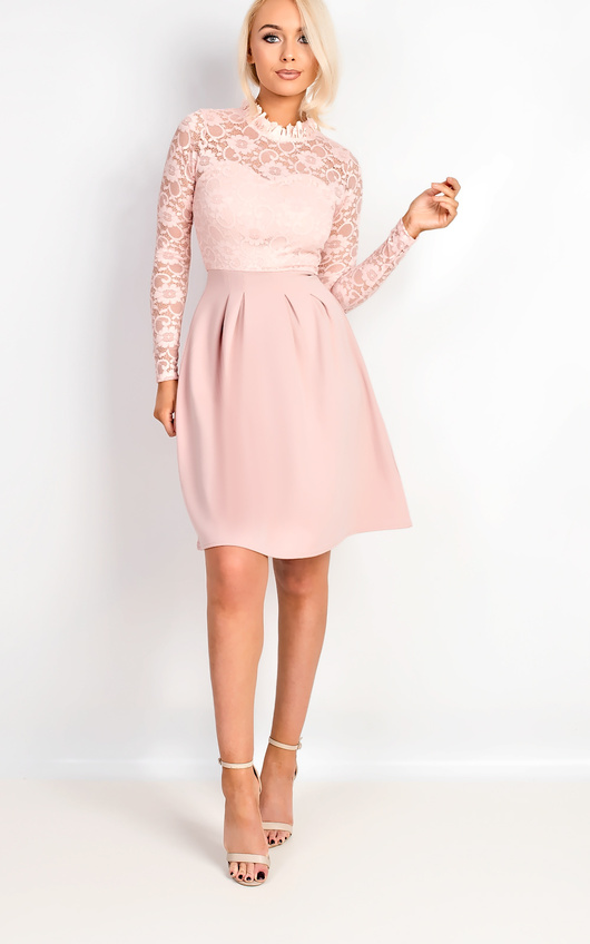 Anyelle Lace Skater Dress