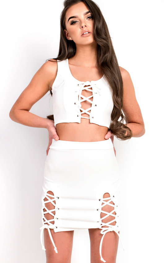 Niah Lace up Co-ord