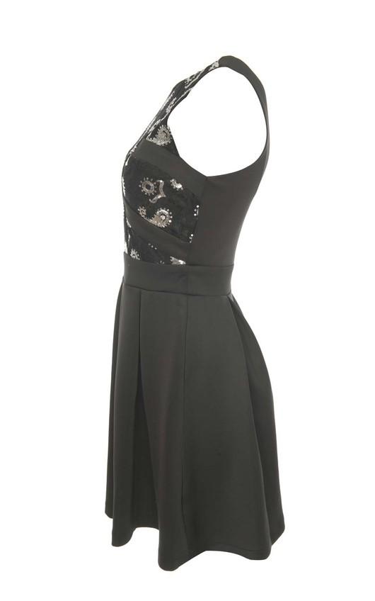 Fleur Sequin Paisley Party Dress