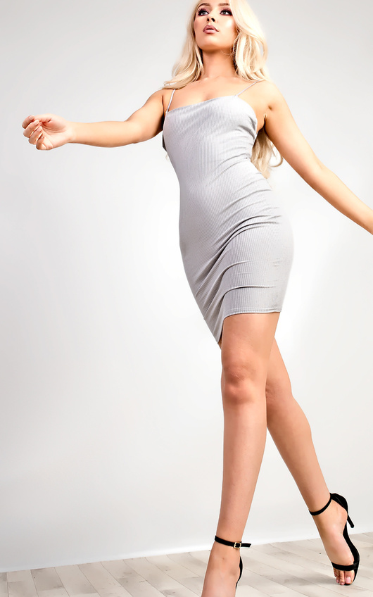 Aby Ribbed Mini Dress