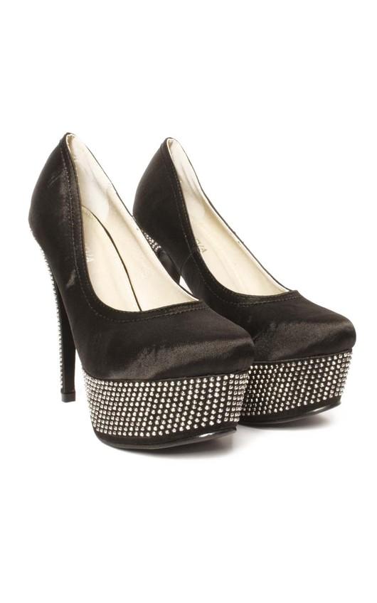 Danika Gem Embellished  Platform Heels