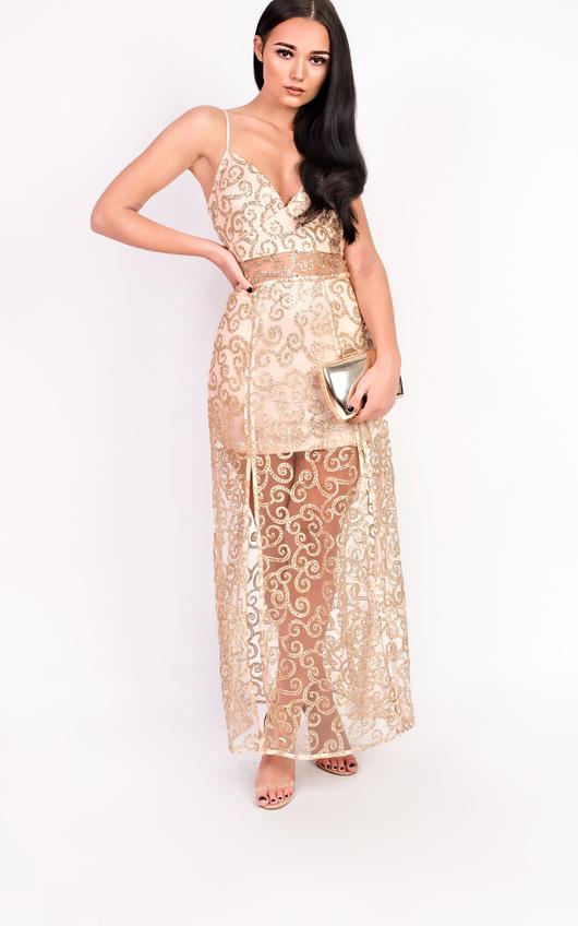 Kady Double Split Maxi Dress