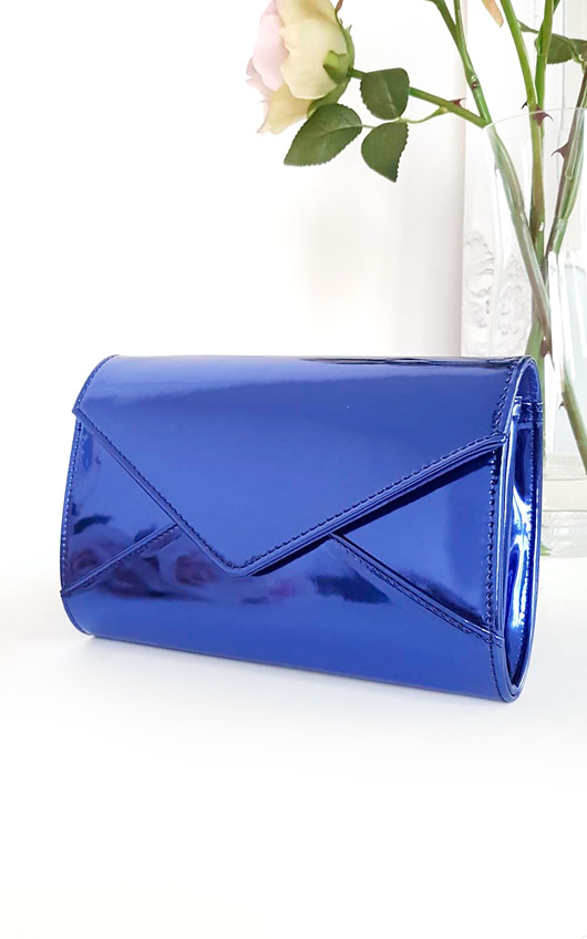 Amel Metallic Envelope Clutch Bag