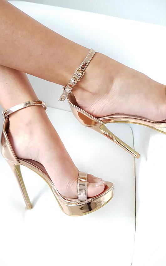Ella Barely There Platform Heels