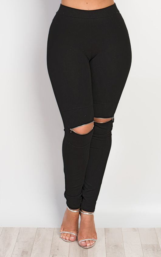 Alizabeth Zip Detail Leggings