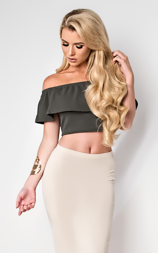 Jessi Off Shoulder Crop Top