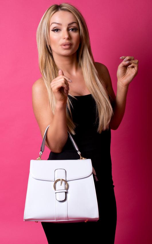 Verla Patent Handbag