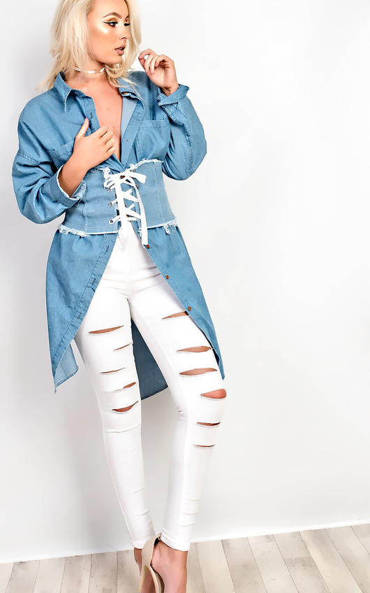 Aguilera Slit Ripped Skinny Jeans