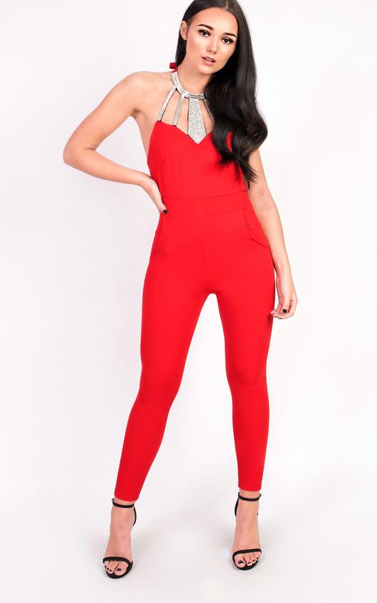 Cherri Slim Leg Embellished Jumpsuit