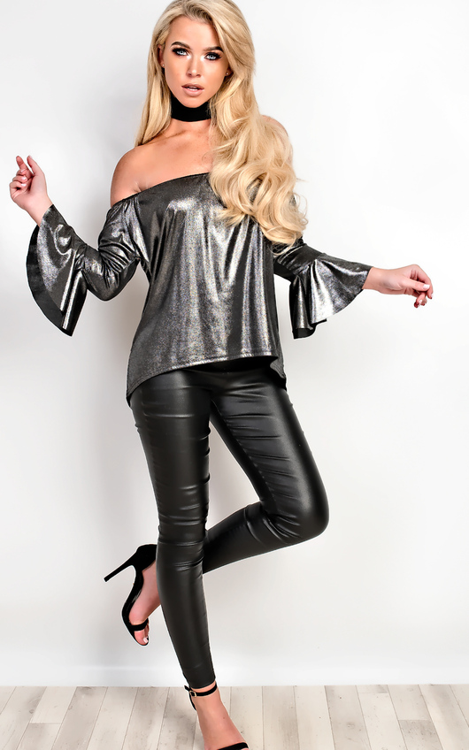Vanessa Off Shoulder Metallic Top