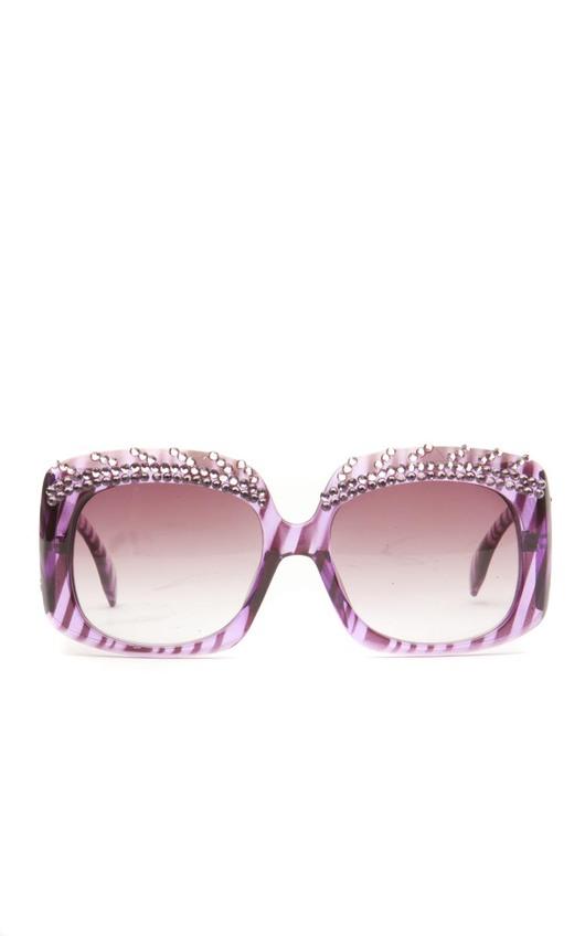 Windsor Eyelash Effect Double Diamante Rim in Purple