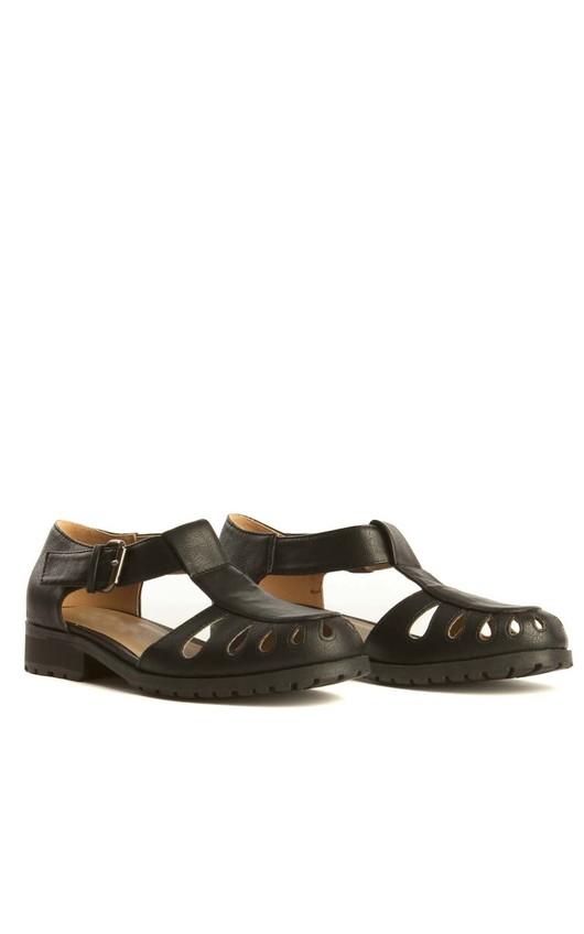 Maya Black Buckle Shoes