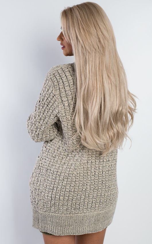 Polly Oversized Loose Knit Cardigan