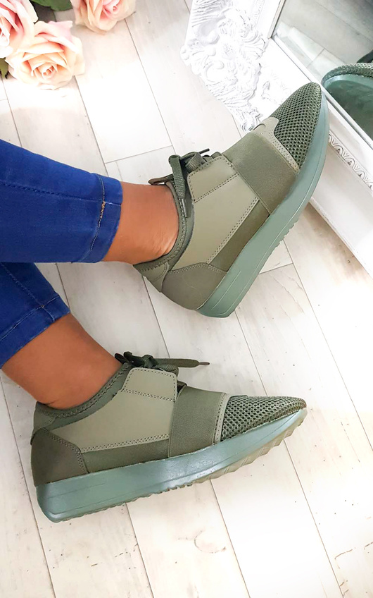 Bali Mesh Two Toned Panel Trainers