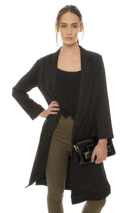 Petra Tailored Black Coat