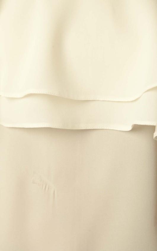 Camille Frill Vest Top in Cream