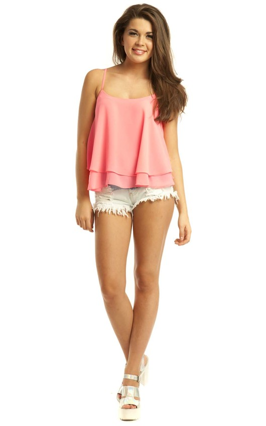 Shelli Neon Pink Swing Vest