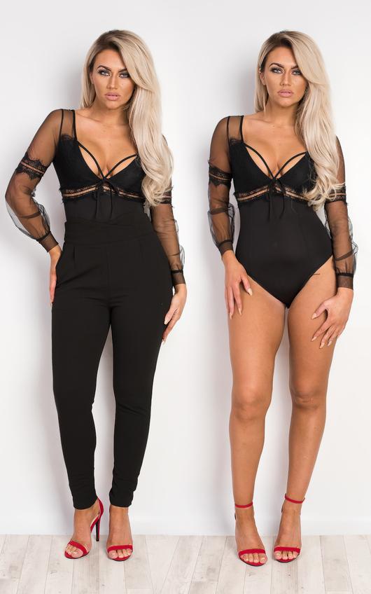 Moxie Lace & Mesh Bodysuit