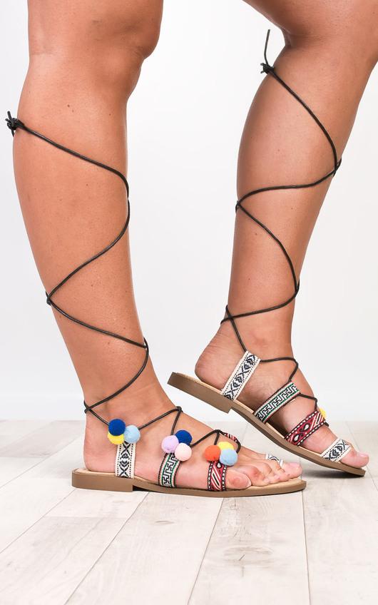 Ammarah Pom Pom Sandals