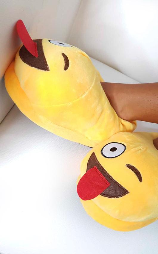 Emoji Tongue Slippers