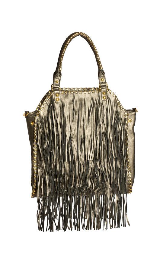 Halo Fringed Oversized  Handbag
