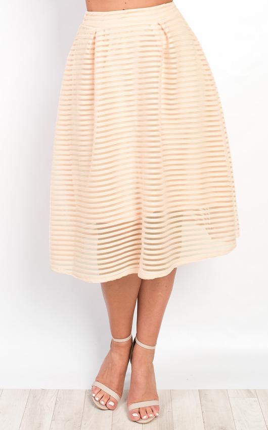Helena Textured Stripe Circle Skirt