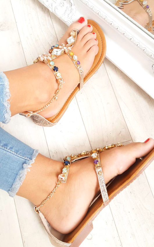Gomez Crystal Embellished Sandals