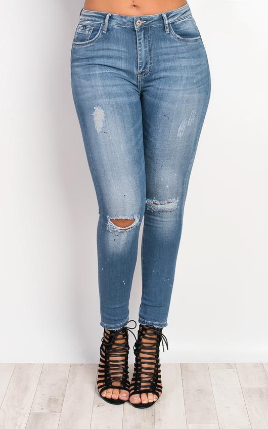 Zaraida Ripped Skinny Jeans
