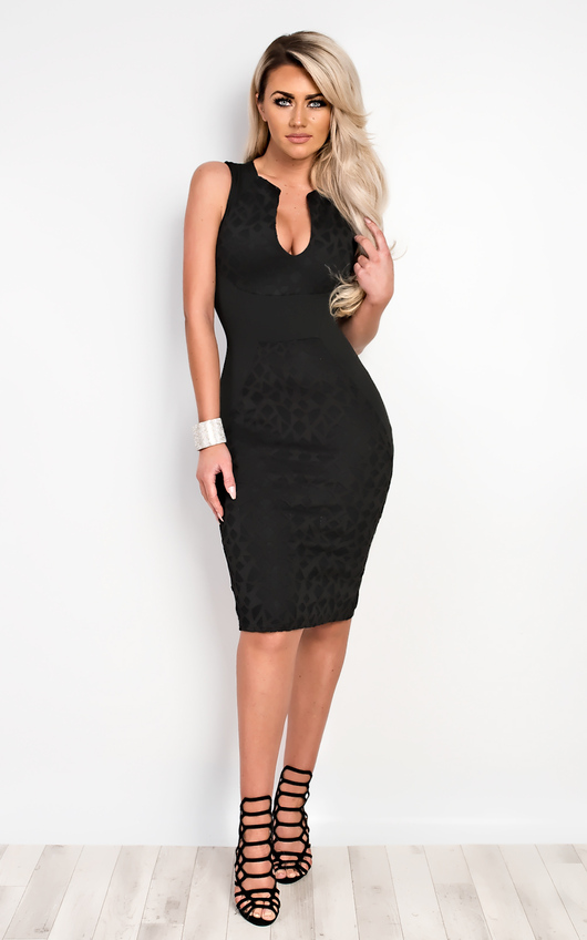 Lucy Laser Cut Bodycon Dress