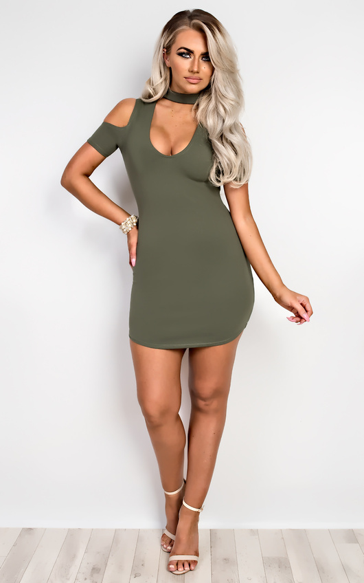 Ilene Choker Neck Mini Dress