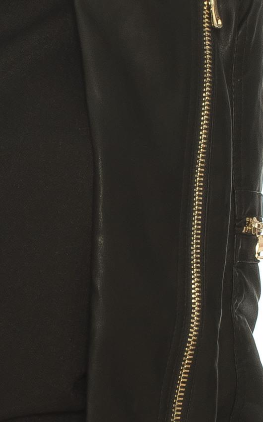 Viper Faux Leather Biker Jacket