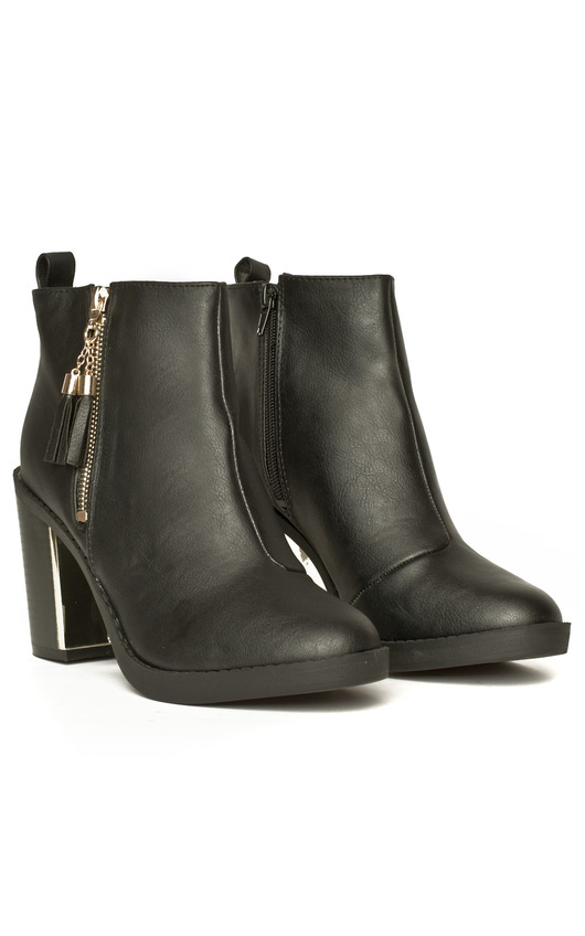 Freja Leather Style Heeled Boots