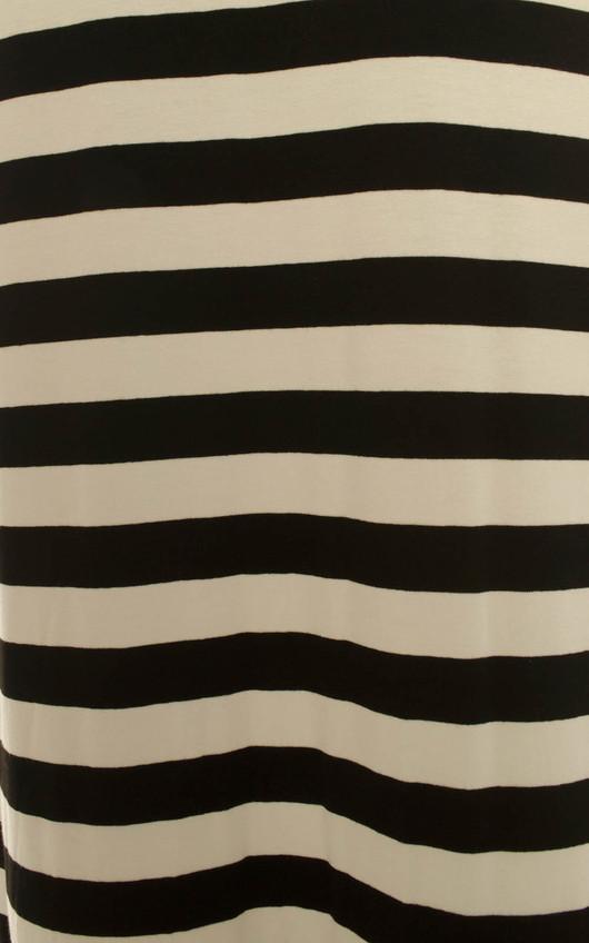 Victoria Monochrome Stripe Maxi Skirt