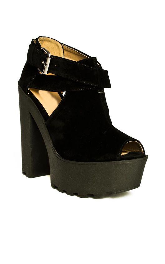 Jax Suede Style Platform Heels