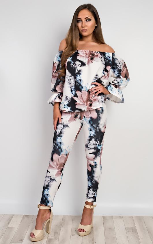 Janie Floral Off Shoulder Co-Ord