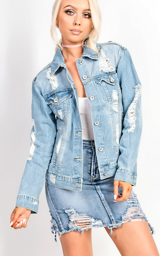 Scarlett Distressed Denim Jacket