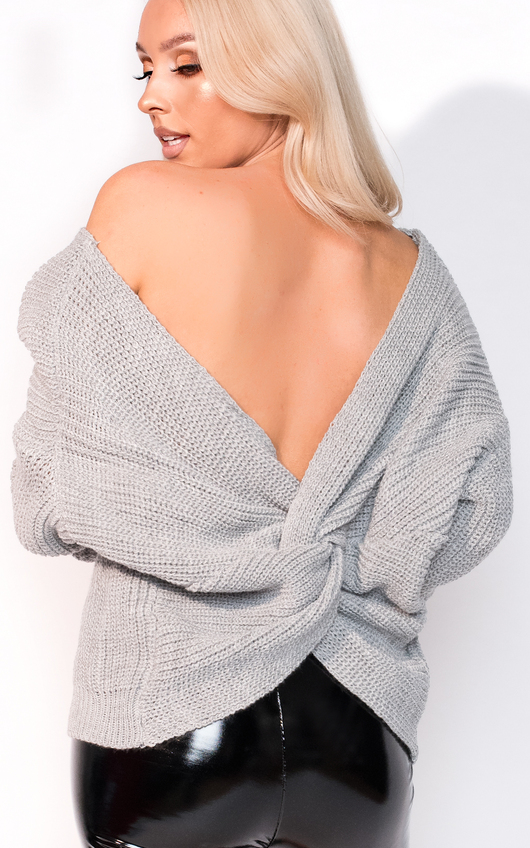 Kim Knitted Knot Cropped Jumper