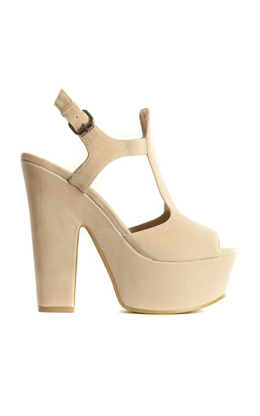 May Cream Platform Heels