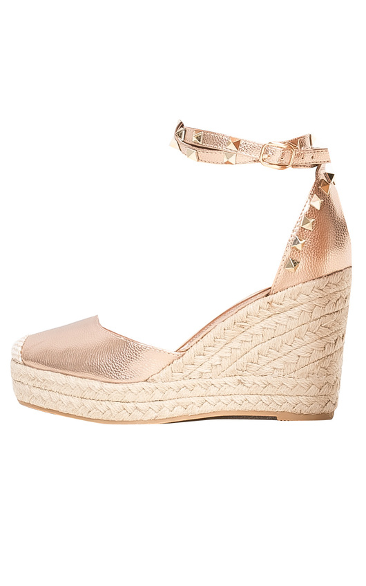 03f5c326abc9 Alissa Studded Ankle Strap Espadrille Wedges in Champagne