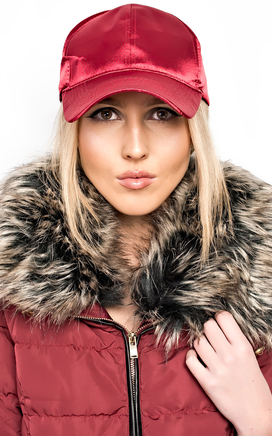 Emilie Satin Cap