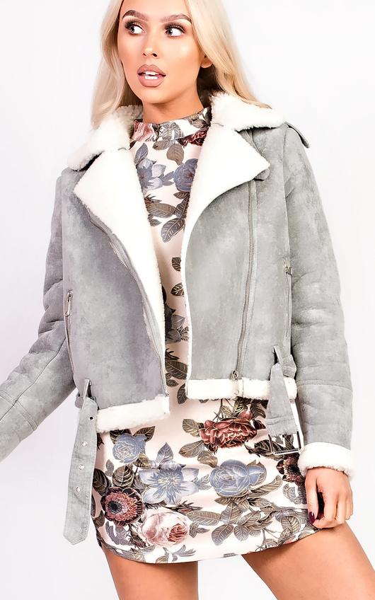 Arianna Faux Fur Shearling Jacket