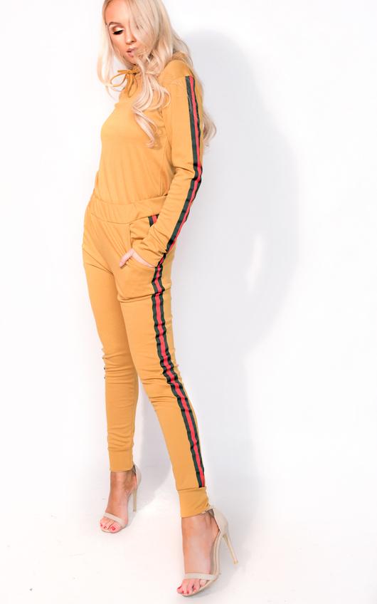 Ariana Stripe Hooded Slim Fit Tracksuit