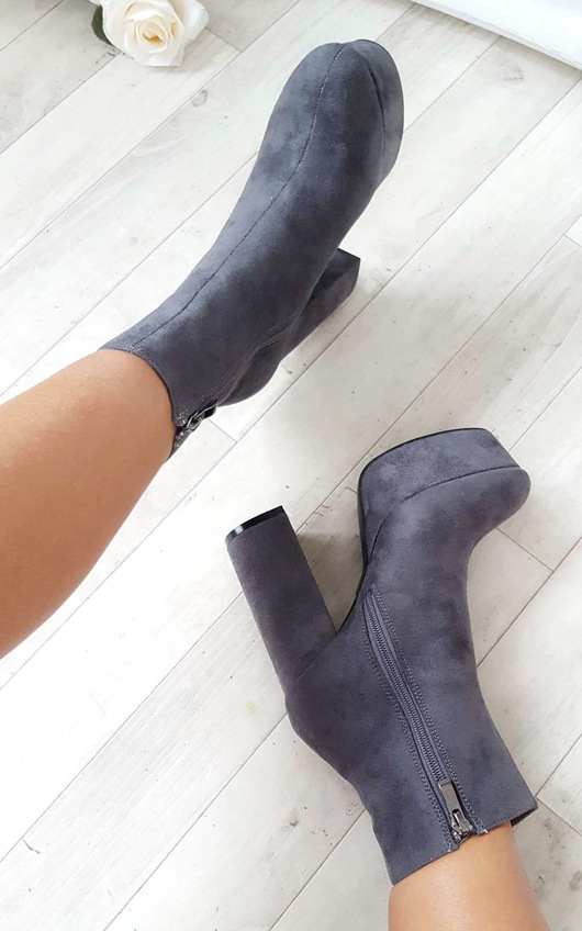 Robyn Suede Platform Boots