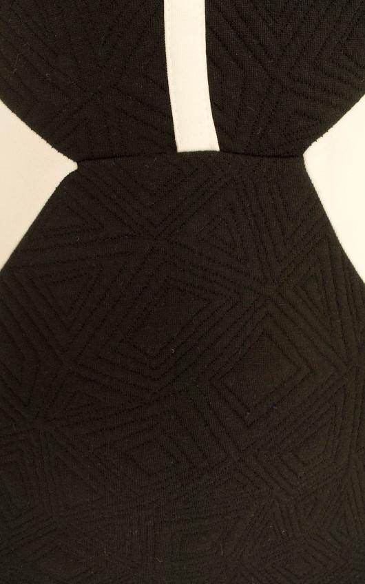 Bianca Monochrome Textured Dress