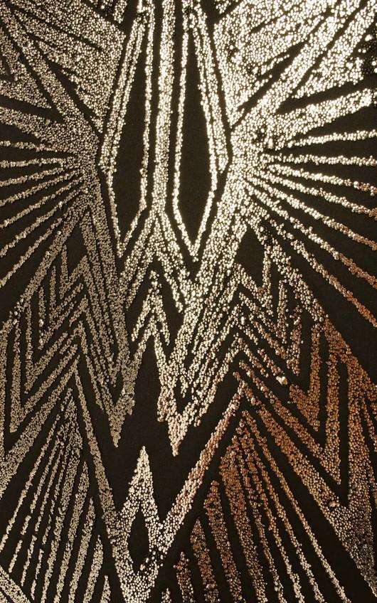 Esma Metallic Geometric Bodycon Skirt