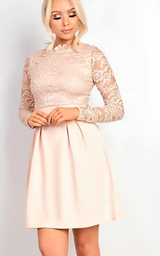 Nika Lace Skater Dress