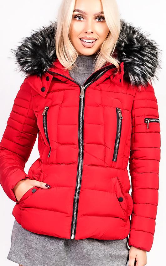 Carolina Padded Faux Fur Hooded Jacket