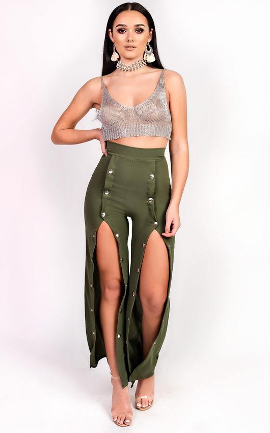 Leena Popper Slim Leg Trousers